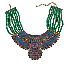 "Heidi Daus ""Ravishing Rapture"" Beaded Crystal Bib Drop Necklace"