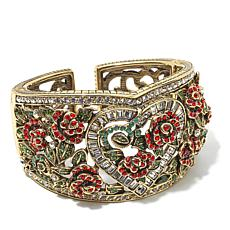 "Heidi Daus ""Red Queen"" Crystal Cuff Bracelet"