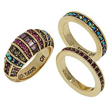 "Heidi Daus ""Refined Elegance"" 3-piece Crystal Ring Set"