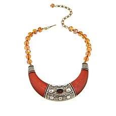 """Heidi Daus """"Say It With Style"""" Beaded Bib Drop 17"""" Necklace"""