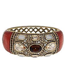 "Heidi Daus ""Say It With Style"" Crystal Hinged Bangle Bracelet"