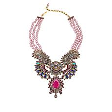 "Heidi Daus ""Shangri-La"" Beaded Crystal Drop Necklace"