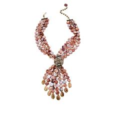 """Heidi Daus """"Shell Shocked"""" Mother-of-Pearl and Crystal Drop Necklace"""