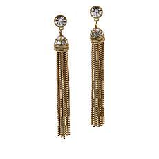 Heidi Daus Skinny Tassel Earrings