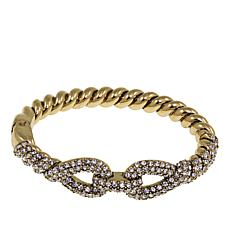 "Heidi Daus ""Sleek and Sophisticated"" Crystal Bangle Bracelet"