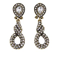 "Heidi Daus ""Sleek and Sophisticated"" Crystal Drop Earrings"