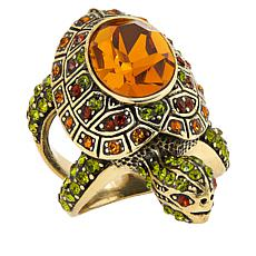 "Heidi Daus ""Slowpoke"" Crystal Turtle-Design Ring"