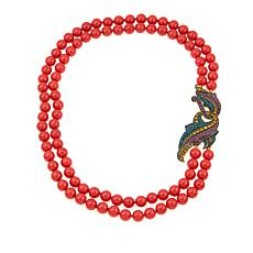 "Heidi Daus ""Sophisticated Solution"" 2-Strand Beaded 19-1/2"" Necklace"