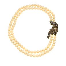 """Heidi Daus """"Sophisticated Solution"""" 2-Strand Beaded 19-1/2"""" Necklace"""