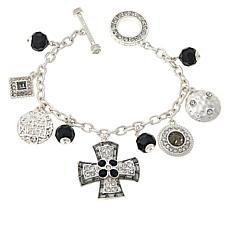 "Heidi Daus ""Sophisticated Swag"" Chain-Link Dangle Bracelet"