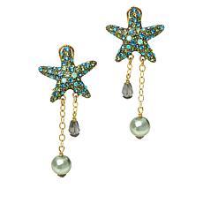"Heidi Daus ""Sparkling Starfish"" Crystal Dangle Earrings"