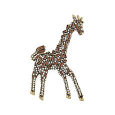 "Heidi Daus ""Spotted Beauty"" Crystal Giraffe Pin"