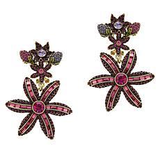 """Heidi Daus """"Spring Bouquet"""" Crystal Drop Earrings"""