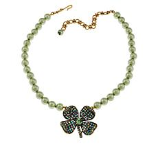 "Heidi Daus ""St. Sparkle"" Four Leaf Clover Beaded Necklace"