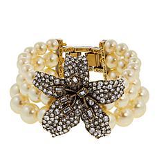 "Heidi Daus ""Stargazer"" 3-Strand Beaded Crystal Bracelet"