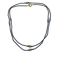 "Heidi Daus ""Staying in Line"" Beaded Crystal-Accented 64"" Necklace"