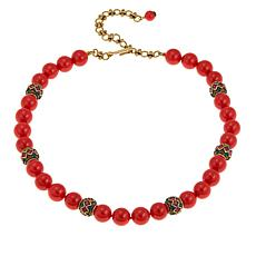 """Heidi Daus """"Staying in Line"""" Beaded Crystal Station Necklace"""