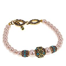 "Heidi Daus ""Staying in Line"" Beaded Toggle Bracelet"