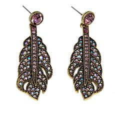 "Heidi Daus ""Stroke of Fabulous"" Crystal Drop Earrings"