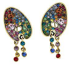 """Heidi Daus """"Stroke of Sparkle"""" Crystal Earrings"""