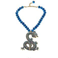 "Heidi Daus ""Sublime Serpent"" Beaded Drop Necklace"