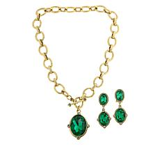 """Heidi Daus """"Suit Your Style"""" Crystal Drop Necklace and Earrings Set"""