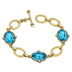 "Heidi Daus ""Suit Your Style"" Oval Line Bracelet"
