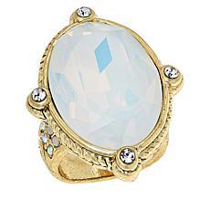 """Heidi Daus """"Suit Yourself"""" Oval Stone Crystal Ring"""