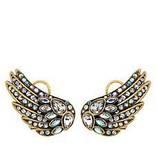 """Heidi Daus """"Swan Sparkle"""" Crystal Earrings"""