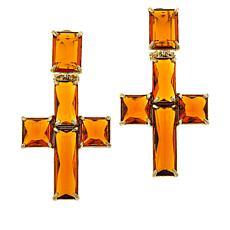 """Heidi Daus """"The Angels Wear Heidi"""" Cross Earrings"""