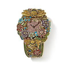 "Heidi Daus ""The Bee's Knees"" Pavé Crystal Cuff Watch"