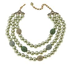 "Heidi Daus ""The Big Pretty"" Beaded 3-Strand Station Necklace"