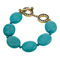 "Heidi Daus ""The Big Pretty"" Beaded Toggle 8"" Bracelet"