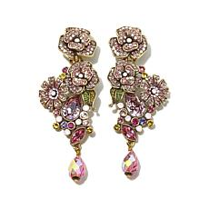 "Heidi Daus ""The Queen's Garden"" Crystal Drop Earrings"