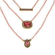 """Heidi Daus """"Three Times the Charm"""" Convertible Necklace 3-piece Set"""