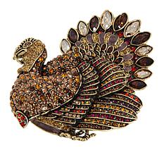 "Heidi Daus ""Toby Turkey"" Crystal and Enamel Pin"