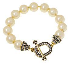 """Heidi Daus """"Triple Play"""" Beaded Toggle Bracelet"""