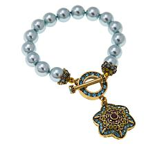 "Heidi Daus ""Unforgettable Lavaliere"" Beaded Crystal Toggle Bracelet"