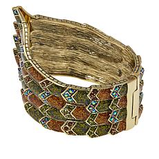 "Heidi Daus ""Winging It"" Enamel and Crystal Cuff Bracelet"