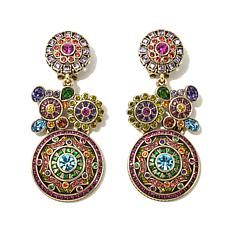"Heidi Daus ""Wonder Works"" Crystal Drop Earrings"