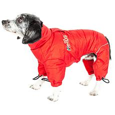 Helios Thunder-crackle Full-Body Waded-Plush Reflective Dog Jacket