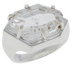 "Herkimer Mines Boutique Collection ""Diamond"" Quartz Natural Hug Ring"