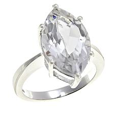 "Herkimer Mines ""Diamond"" Quartz Marquise Solitaire Ring"