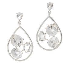 """Herkimer Mines """"Diamond"""" Quartz Multi-Shape Open Drop Earrings"""