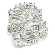 """Herkimer Mines """"Diamond"""" Quartz Multi-Shaped Stone Ring"""