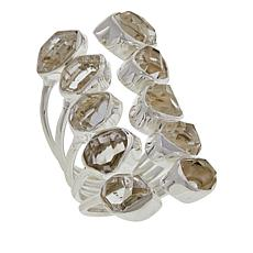 "Herkimer Mines Herkimer ""Diamond"" Quartz 10-Stone Cuff-Style Ring"