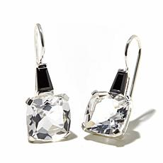 Herkimer Mines Quartz and Black Spinel Earrings