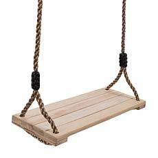 Hey! Play! Kid's Adjustable Wooden Swing with Nylon Rope