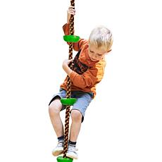 Hey! Play! Kid's Climbing Rope Knotted Tree Swing Ladder
