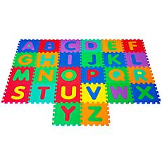 Hey! Play! Nontoxic Interlocking Foam Tile Play Mat with Letters